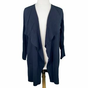 Vince Camuto Black Waterfall Front Knit Cardigan